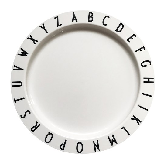Design Letters Eat & Learn Plate White White