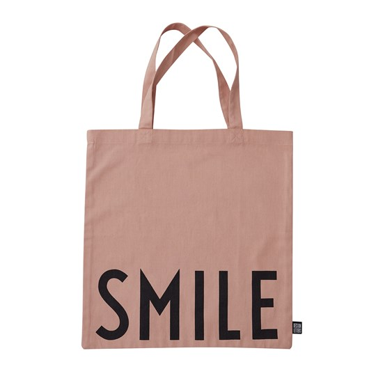 Design Letters Smile Favorite Tote Bag Nude Nude
