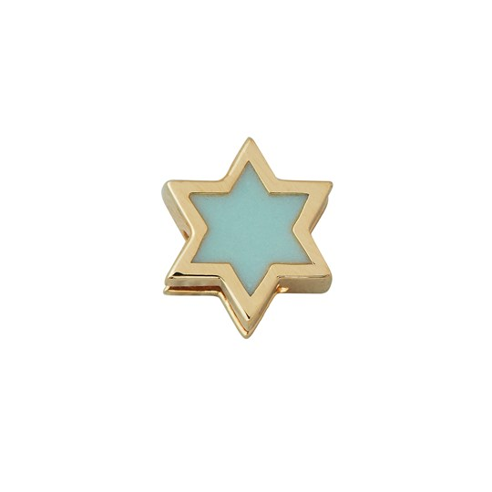 Design Letters Star Necklace Charm Gold SOFTGREEN / GOLD