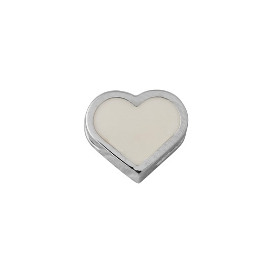 Design Letters Heart Necklace Charm Silver NUDE / SILVER