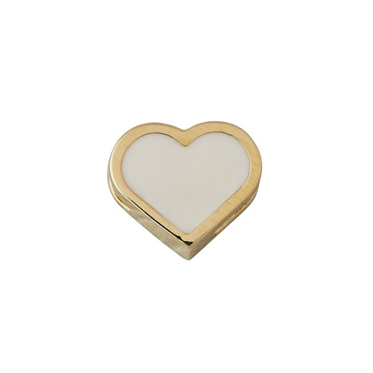 Design Letters Heart Necklace Charm Gold NUDE / GOLD