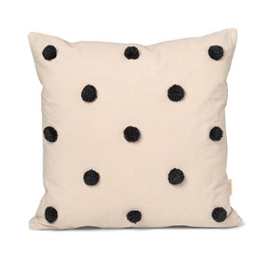 Image of ferm LIVING Dot Tufted Pude Sand/Black One Size (1581609)