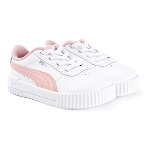 Image of Puma Carina Spædbarn Sneakerer White/Peachskin 27 (UK 9) (1641432)