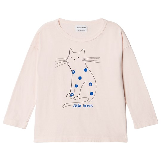 Bobo Choses Cat T-Shirt Cream Tan Cream Tan