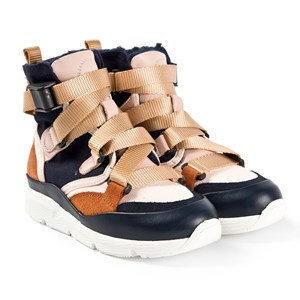Image of Chloé Sonnie High Top Sneakers Navy 30 (UK 12) (1620866)