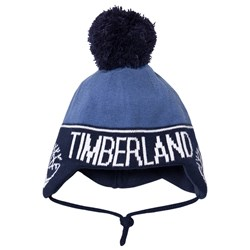Timberland Branded Baby Beanie Navy