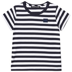 Acne Studios Mini Nash Stripe T-Shirt Navy