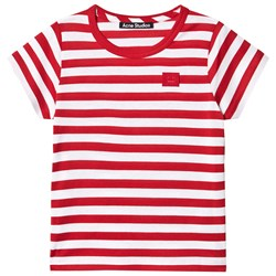 Acne Studios Mini Nash Stripe T-Shirt Cherry Red