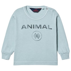 Image of The Animals Observatory Dog Baby T-shirt Blue Animal 12 mdr (1630255)
