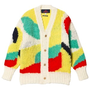 Image of The Animals Observatory Arty Racoon Kids Cardigan Hvid 3 år (1630687)