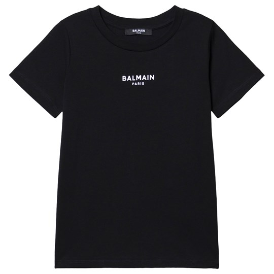 Balmain Branded T-Shirt Black 930BC