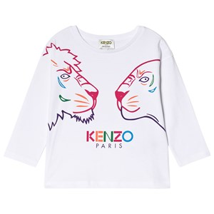 Kenzo Tiger And Friends T-shirt Hvid 6 years