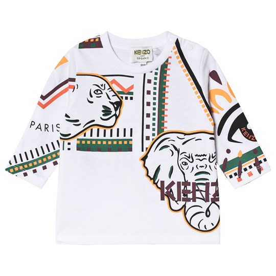 Kenzo Tiger and Friends T-Shirt White 01