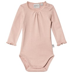 Wheat Rib Lace Baby Body Rose Powder