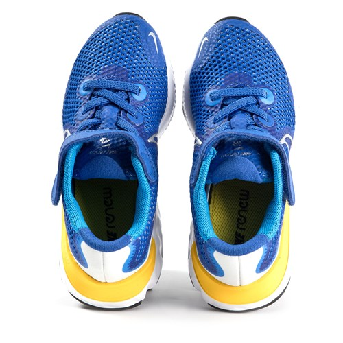 Blue and Yellow Renew Run Trainers