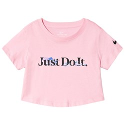 NIKE Just Do It Cropped Toppi Vaaleanpunainen