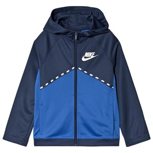 Image of NIKE Colorblock Hættetrøje Navyblå XS (6-8 years) (1604077)