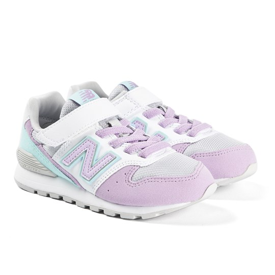New Balance Lilac & White Strap Trainers LILAC (533)