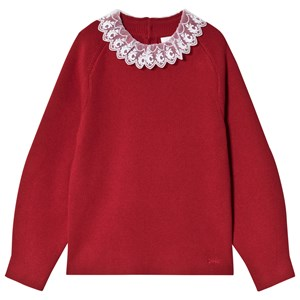 Image of Chloé Embroidered Collar Sweater Red 8 years (1620529)