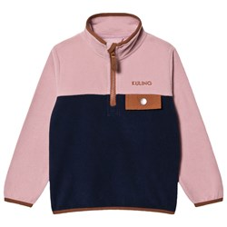 Kuling Davos Fleecejacka Woody Rose/Navy/Brown