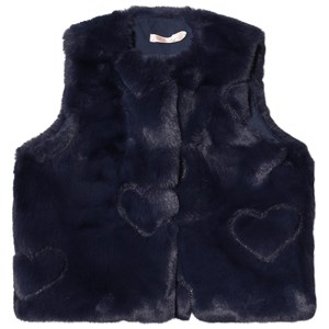Image of Billieblush Heart Faux Fur Vest Navyblå 2 years (1619025)