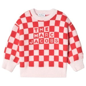 Image of The Marc Jacobs Brushed Check Logo Sweater Pink 10 years (1616254)