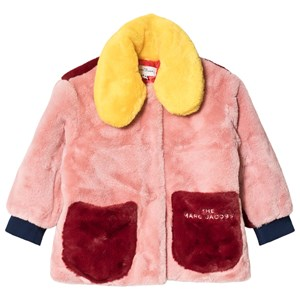 Image of The Marc Jacobs Colorblock Eco Faux Fur Jacket Pink 10 years (1616424)