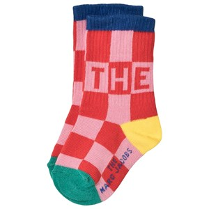 Image of The Marc Jacobs Checked Logo Socks Pink 23 (UK 6) (1616622)