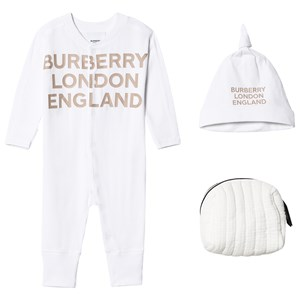 Image of Burberry Branded Layette Set White 12 months (1609485)