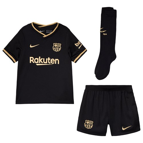 barcelona fc barcelona fc kids away set black babyshop com barcelona fc kids away set black