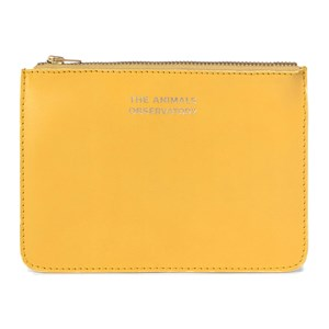 Image of The Animals Observatory Leather Pouch Yellow The Animals One Size (1630683)