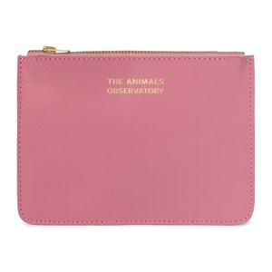 Image of The Animals Observatory Leather Pouch Pink The Animals One Size (1630684)