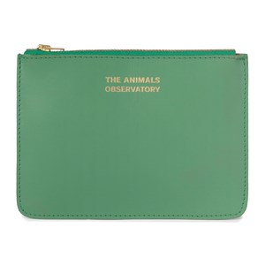 Image of The Animals Observatory Leather Pouch Green The Animals One Size (1630685)