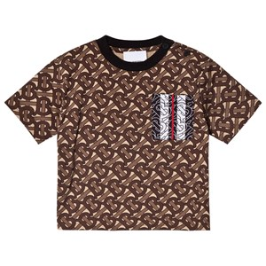 Image of Burberry TB Monogram Tally T-shirt Brun 12 months (1608874)