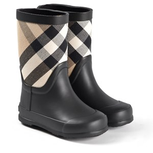 Image of Burberry House Check Rubber Rain Boots Archive Beige 23 (UK 6) (1609510)