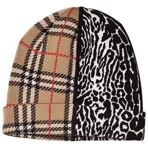 Image of Burberry Beige Check and Leopard Hat M (4-6 years) (1609535)