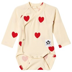 Mini Rodini Hearts Omlottbody Off White