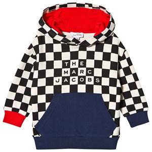 Image of The Marc Jacobs Checked Color Block Logo Hoodie Black 10 years (1616495)