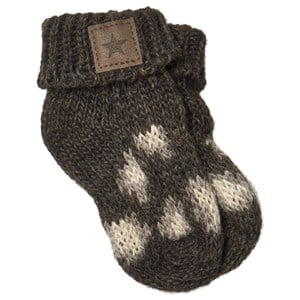 Image of Tocoto Vintage Animal Print Knitted Baby Boots Dark Brown 0-2 Years (1661925)