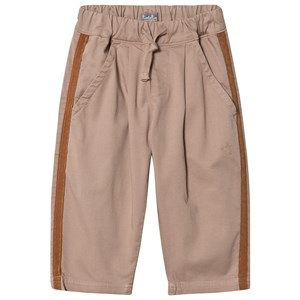 Image of Tocoto Vintage Baggy Twill Pant With 4 Pockets And Contrast Trim Beige 10 Years (1661761)