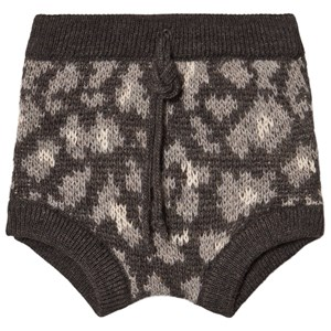 Image of Tocoto Vintage Animal Print Knitted Bloomer Dark Brown 12 Months (1661749)