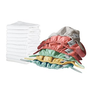 Image of Close 10-Pack Newborn Reusable Cloth Diapers 2-5.5 kg Pastel One Size (1606088)
