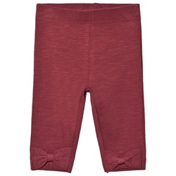 Minymo Bow Leggings Oxblood Red