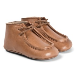 Bonpoint Brown Crib Moccasins Shoes