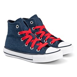 Converse Denim Chuck Taylor All Star Hi Tops Sneakers Blå
