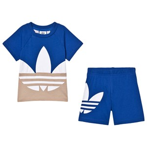 Image of adidas Originals T-shirt and Shorts set Trefoil Infants T-Shirt Blue 9-12 months (80 cm) (1588789)