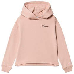 Champion Branded Ultra Light Fleece Cropped Huvtröja Rosa