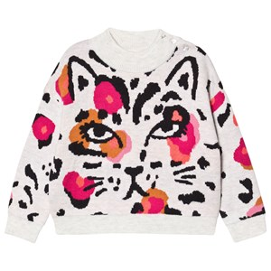 Image of Catimini Cat and Floral Knit Trøje Grå 5 years (1624361)