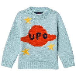 The Animals Observatory Space Bull Kids Tröja Soft Blue