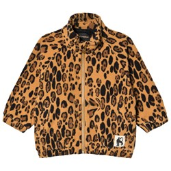 Mini Rodini Leopard Zip Fleece Jacket Beige